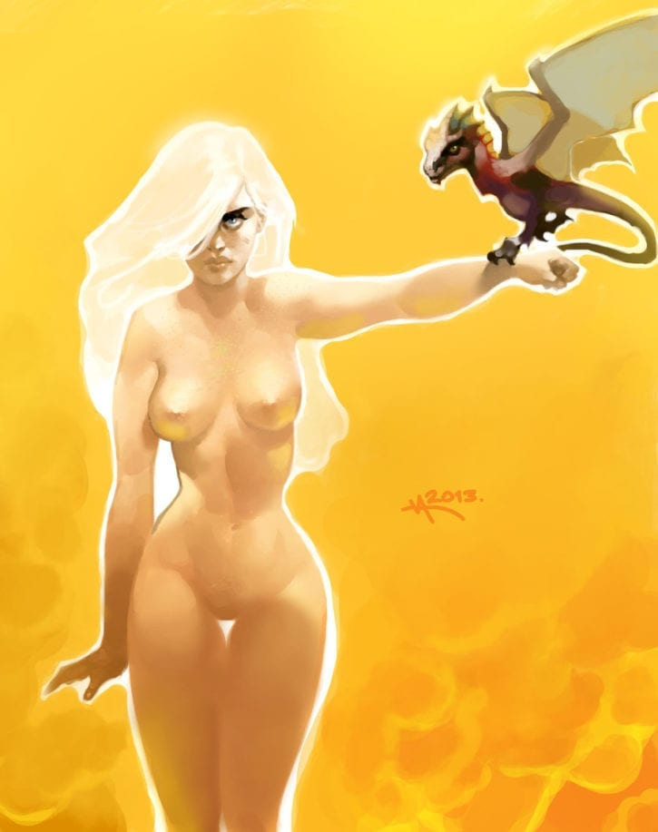 1813133 - A_Song_of_Ice_and_Fire Daenerys_Targaryen Game_of_Thrones VictorAdameArt