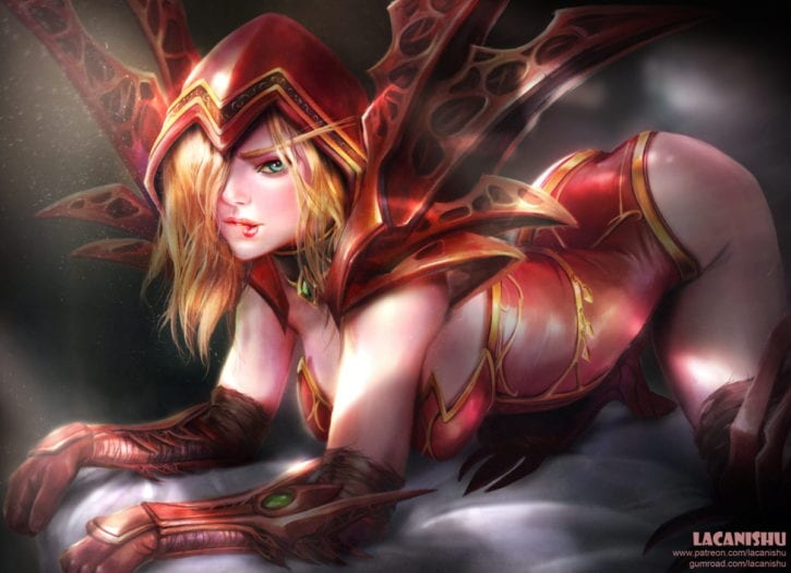1851028 - Lacanishu Valeera_Sanguinar World_of_Warcraft blood_elf hearthstone