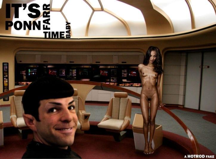 1864757 - Nyota_Uhura Spock Star_Trek Zachary_Quinto Zoe_Saldana fakes