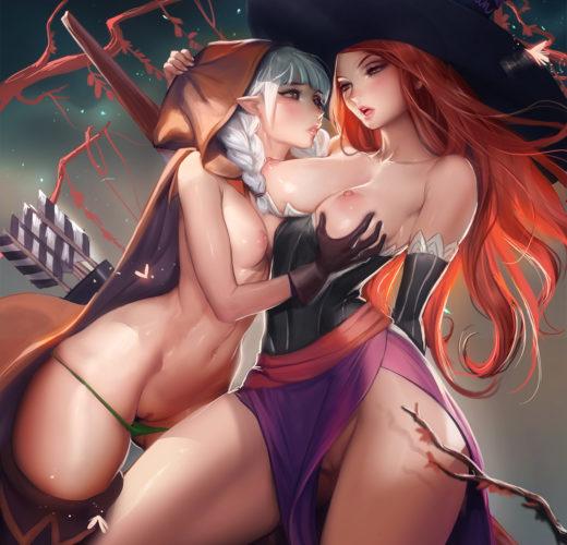 Sorceress x Archer ~ Dragon's Crown Rule 34 by Sakimichan