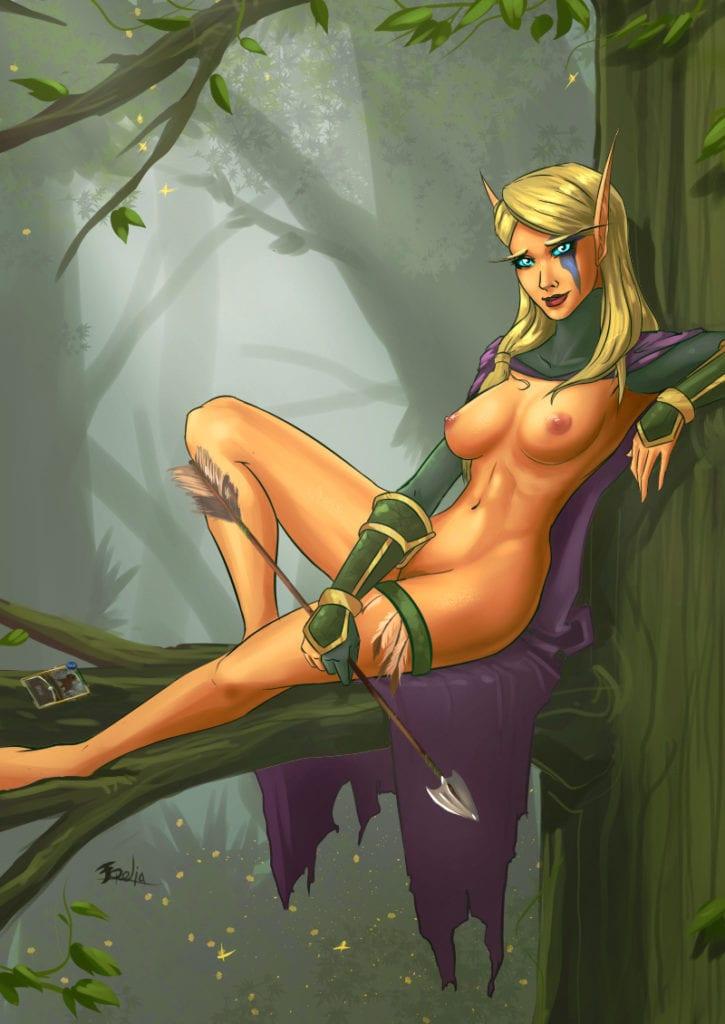 1661171 - Alleria_Windrunner Freli World_of_Warcraft hearthstone high_elf