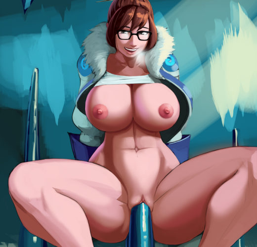 Mei-Ling Zhou Enjoying an Icicle ~ Overwatch Rule 34 by Aka6