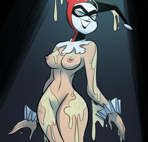 Harley Quinn Bukkake ~ DCAU Rule 34 by kindahornyart