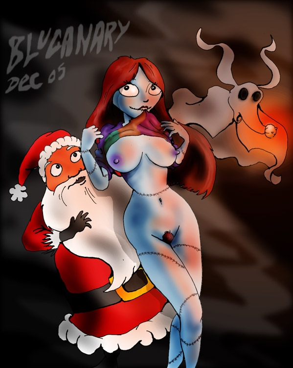 36870 - Blucanary Christmas Halloween Nightmare_Before_Christmas Sally Santa_Claus zero