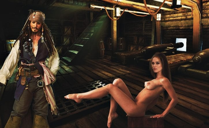 pirates of the caribbean women naked