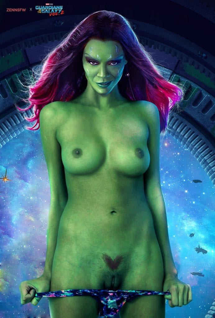 guardians galaxy the gamora saldana of Zoe
