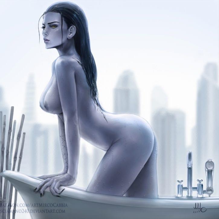 Widowmaker's Bath ~ Overwatch Rule 34 by Mirco Cabbia