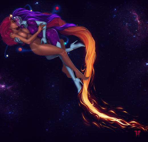 Starfire x Supernova ~ DC Comics/Rick and Morty Crossover by Mister Mediocre