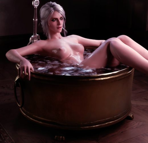 Ciri's Bath Time ~ The Witcher Rule 34 by Pewposterous