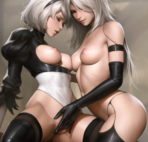 2B x A2 ~ NieR: Automata Fan Art by Tarakanovich