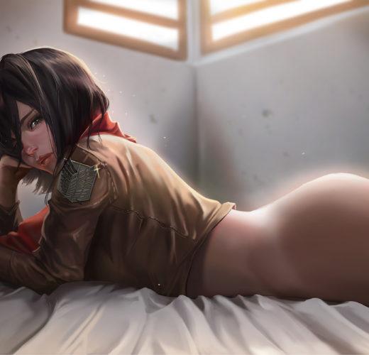 Mikasa Ackerman ~ Attack on Titan Fan Art by HooBaMon