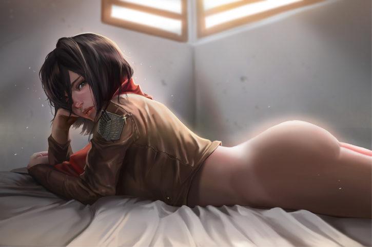 Mikasa sexy on ackerman titan attack