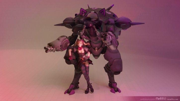Black Cat D.Va ~ Overwatch Fan Art Gallery [11 Pics]