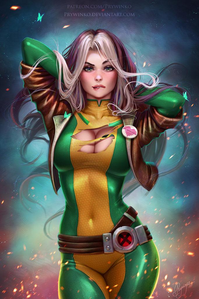 Rogue ~ Marvel Fan Art by Prywinko