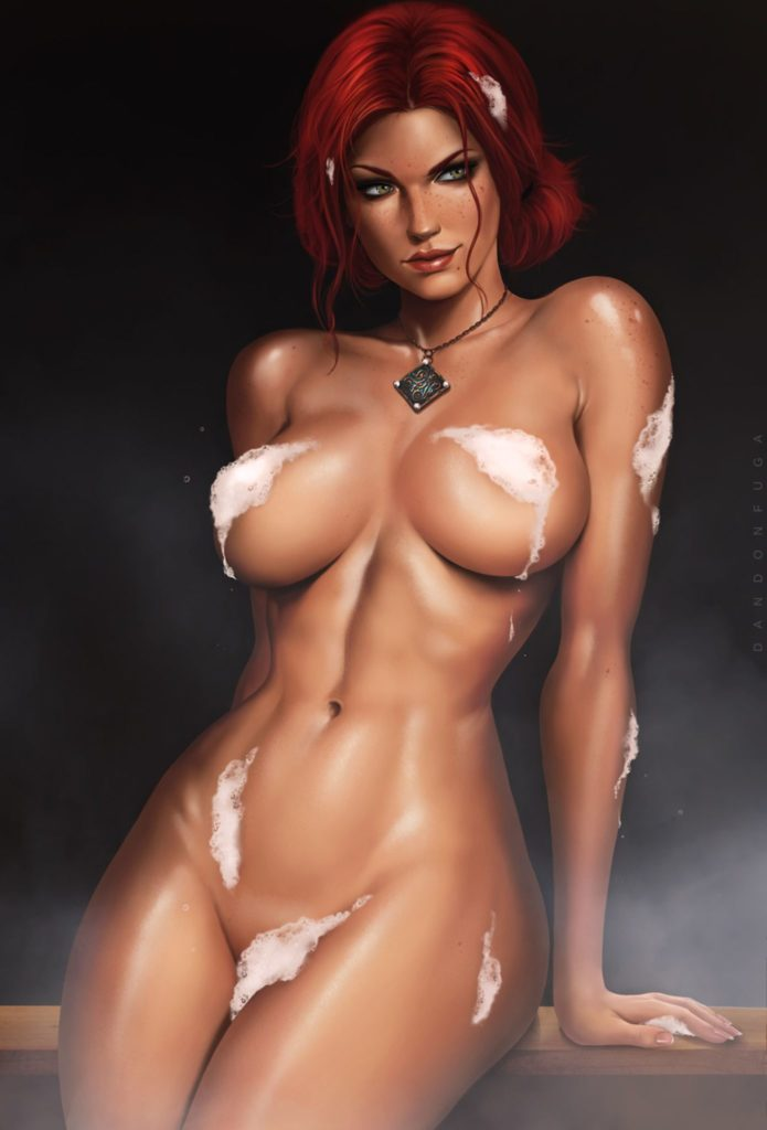 Triss Merigold ~ Witcher 3 Fan Art by Dandonfuga