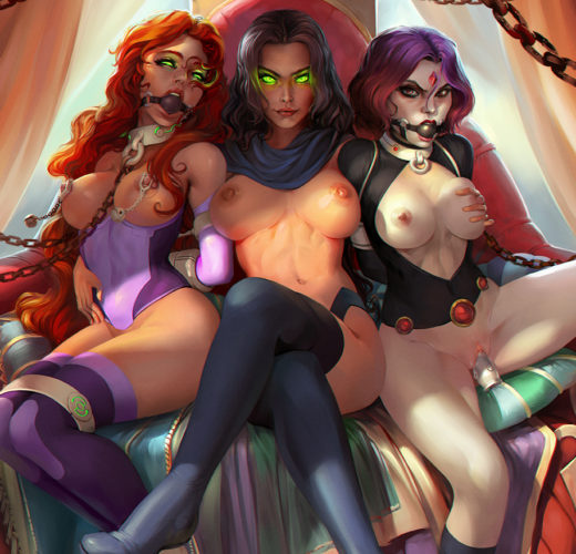 Starfire x Blackfire x Raven ~ DC Comics Fan Art by SanePerson