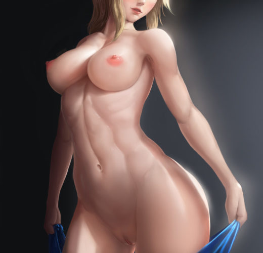 Samus Undressing ~ Metroid Fan Art by Limgae