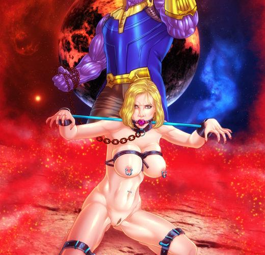 Thanos x Black Widow ~ Avengers: Infinity War Fan Art by Eromaxi