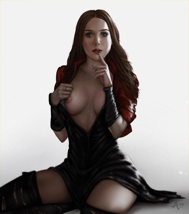 Scarlet Witch ~ Avengers Fan Art by AmuStudio