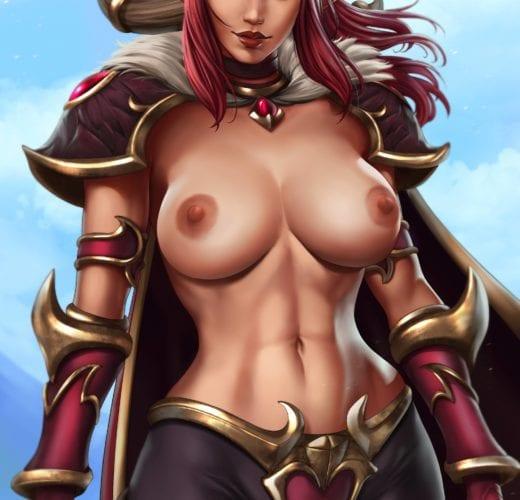 Alexstrasza ~ World of Warcraft Fan Art by DandonFuga