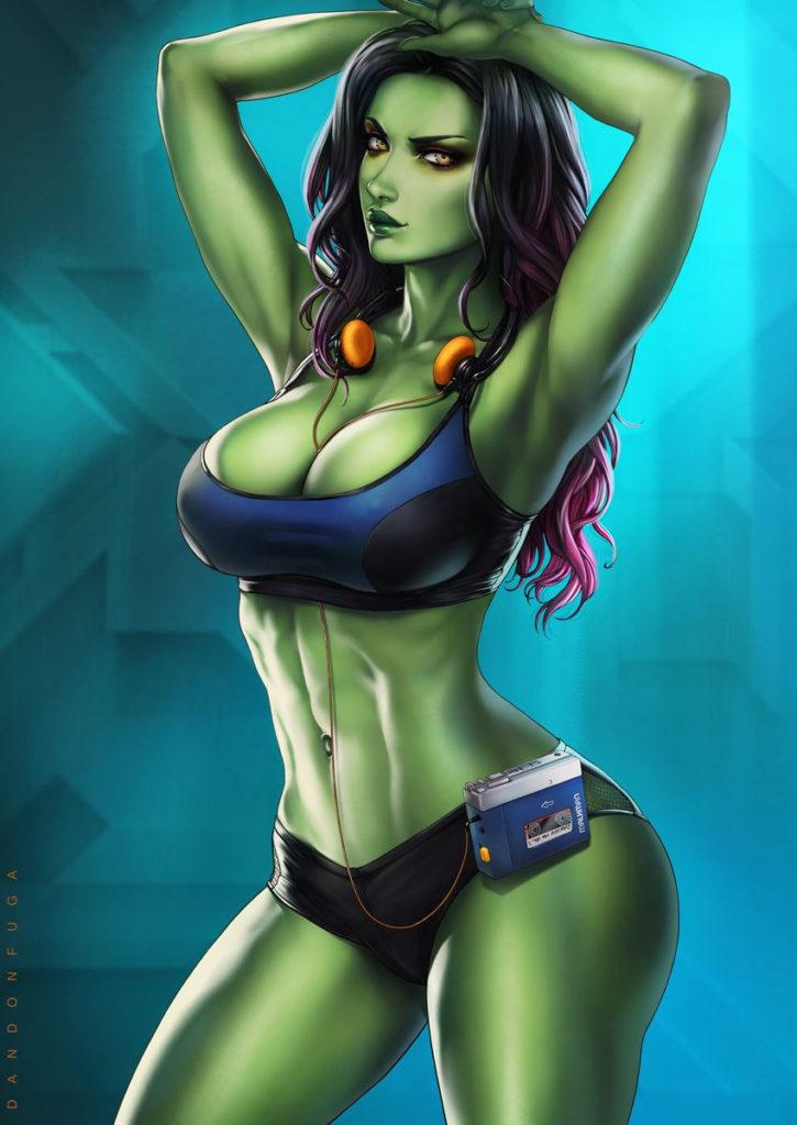 Sporty Gamora ~ Marvel Fan Art by DandonFuga