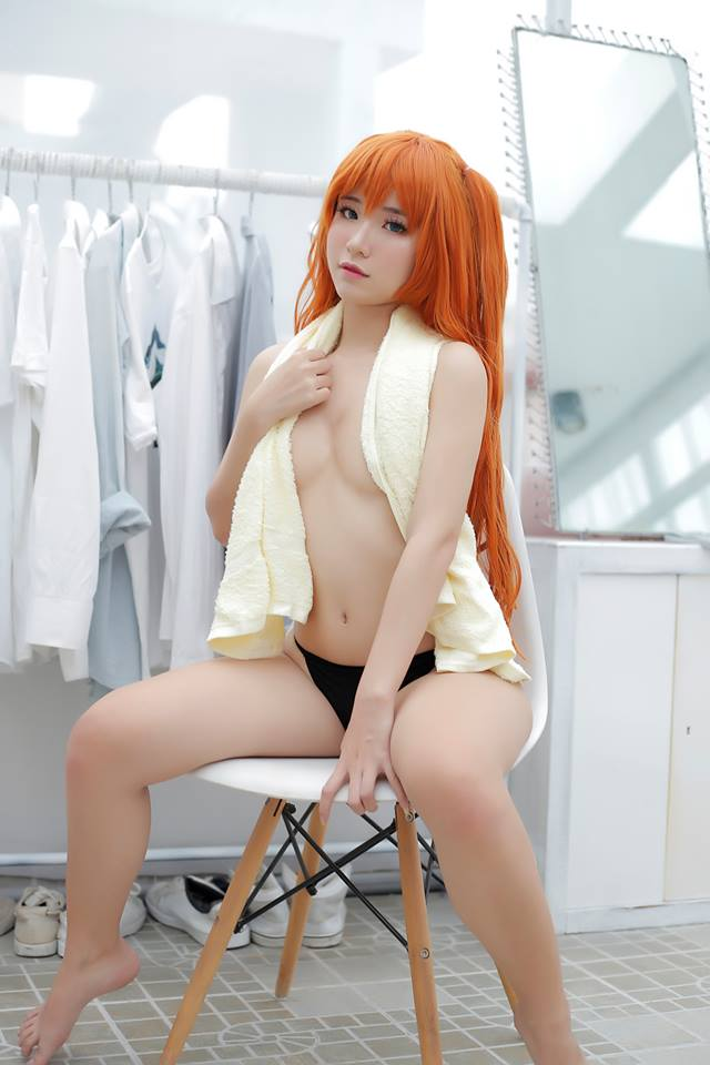Topless Asuka ~ Evangelion Cosplay by Chono Black