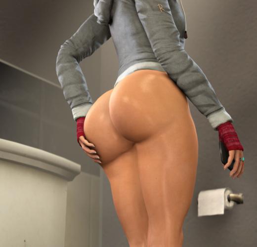 Big Booty Ashley Brown ~ Until Dawn Fan Art by Dentol
