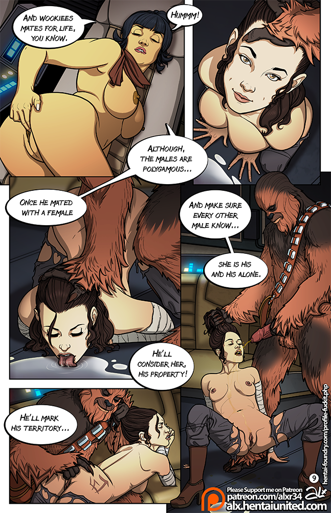 A Complete Guide To Wookiee Sex ~ Rule 34 Comic by Alx [10 Pages]