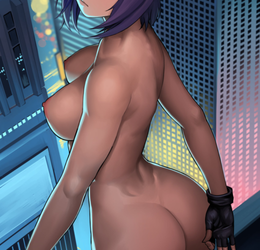 Motoko Kusanagi ~ Ghost in the Shell Fan Art by Lasterk