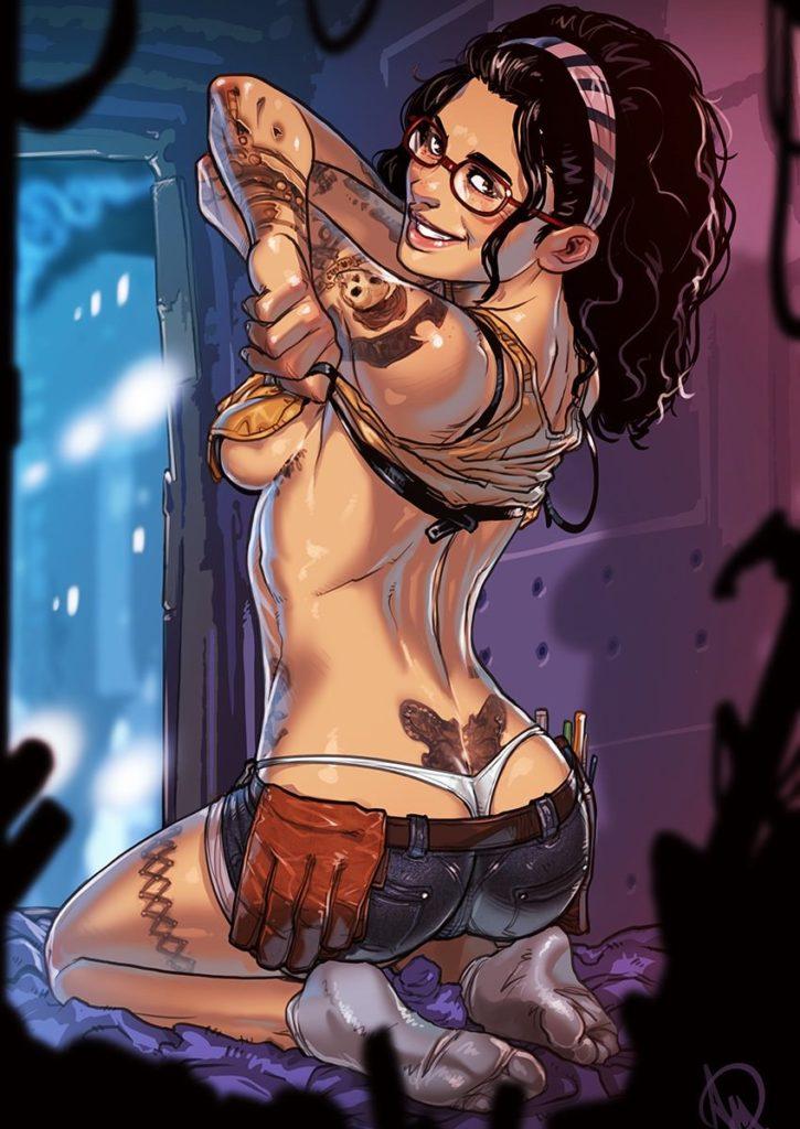 Nico Undressing ~ Devil May Cry Fan Art by Ganassa