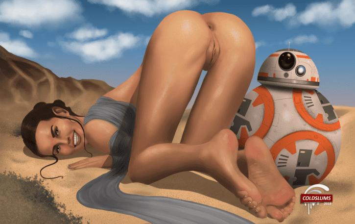 Rey's Jakku Insertion ~ Star Wars Fan Art by ColdSlums
