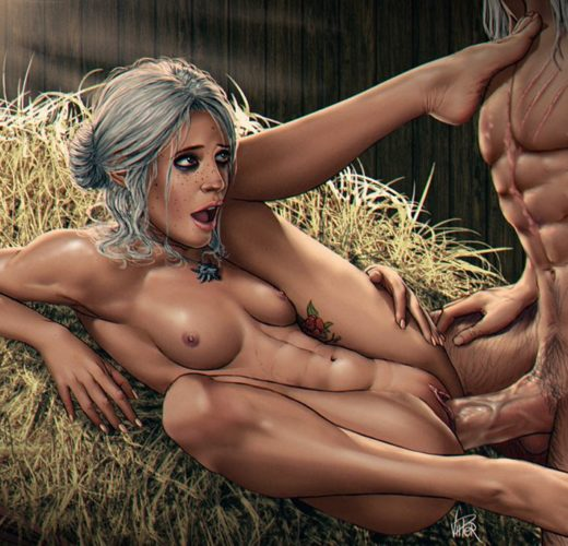 Ciri x Geralt ~ The Witcher Fan Art by ViiPerArt