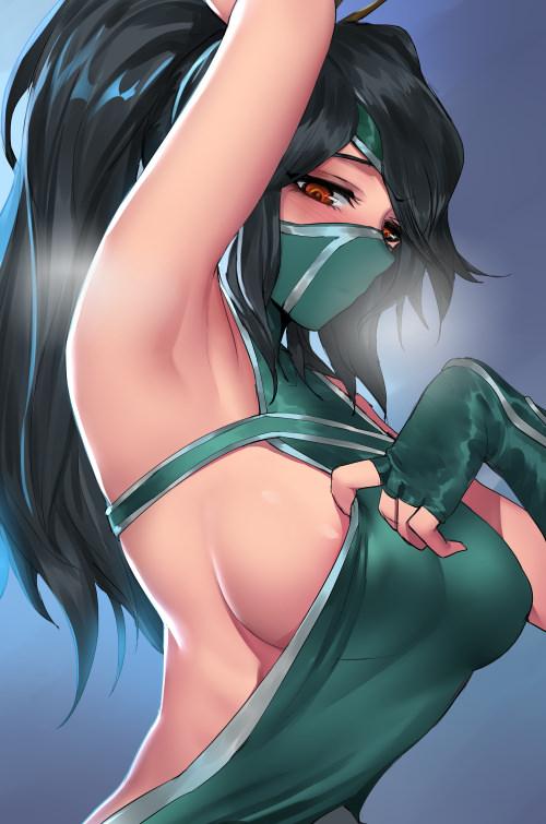 Akali Sideboob ~ League of Legends Fan Art by Pd