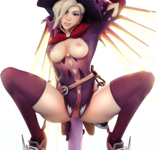 Witch Mercy Striptease ~ Overwatch Fan Art by Lawzilla