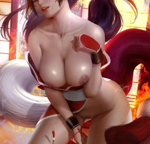 Mai Shiranui ~ King of Fighters Fan Art by Zumi