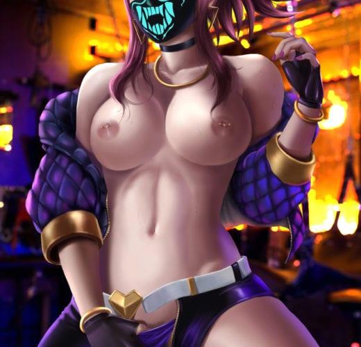 KDA Akali ~ League of Legends Fan Art by AlexanderDinh