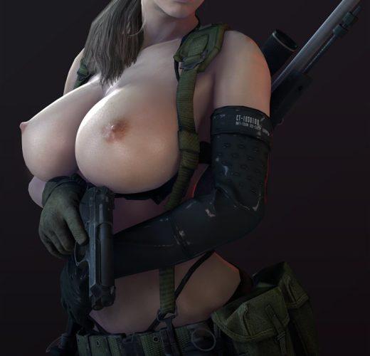 Topless Quiet ~ Metal Gear Solid 5 Fan Art by Batesz