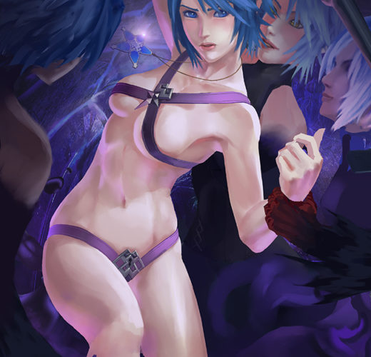 Aqua ~ Kingdom Hearts III Fan Art by Judash137