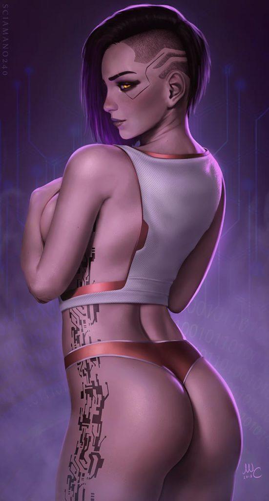 V ~ Cyberpunk 2077 Fan Art by Sciamano240