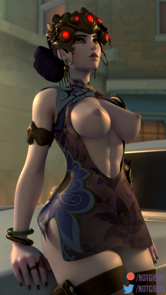Black Lily Widowmaker ~ Overwatch Rule 34 by NotGibus