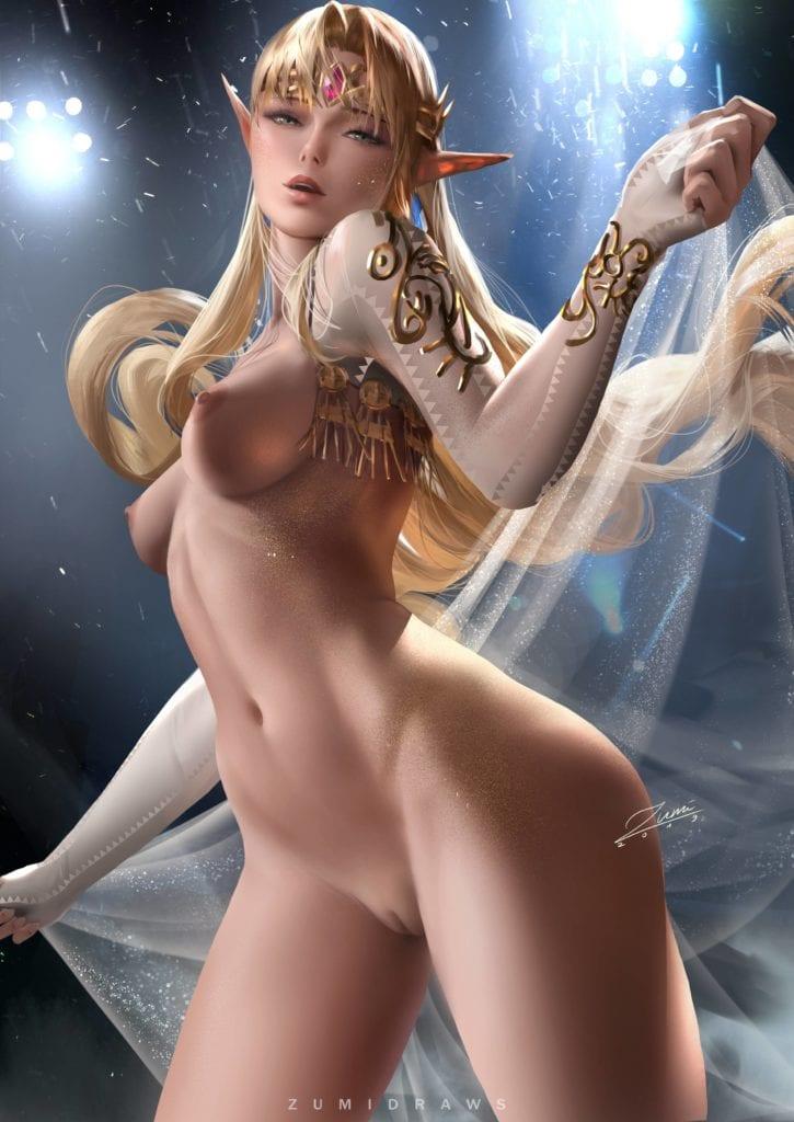 Princess Zelda ~ The Legend of Zelda Rule 34 Fan Art by Zumi