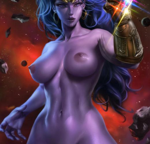 Genderbent Thanos ~ Marvel Fan Art by Logan Cure