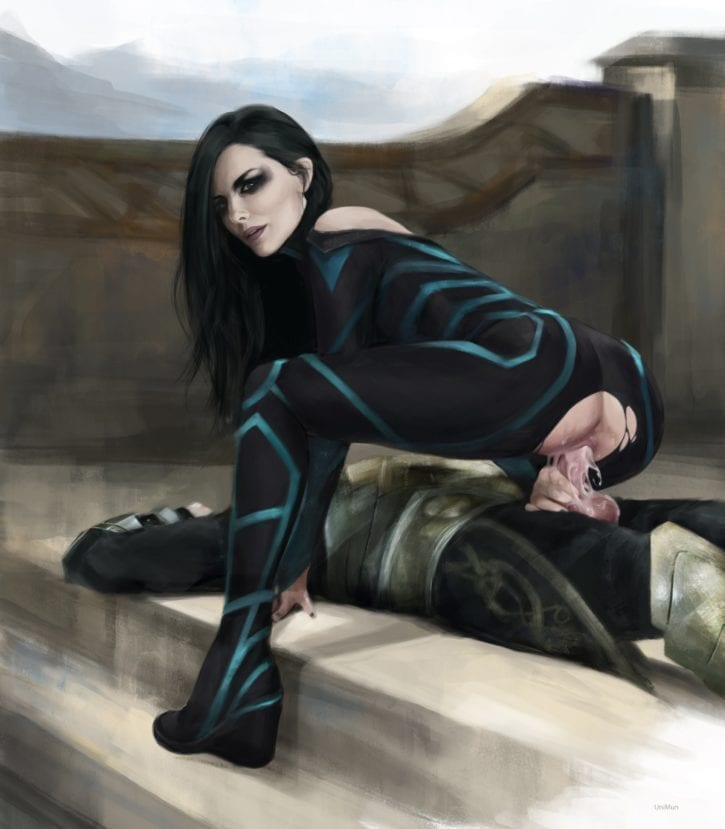 Hela from Thor: Ragnarok ~ MCU Rule 34 Fan Art by UniMun