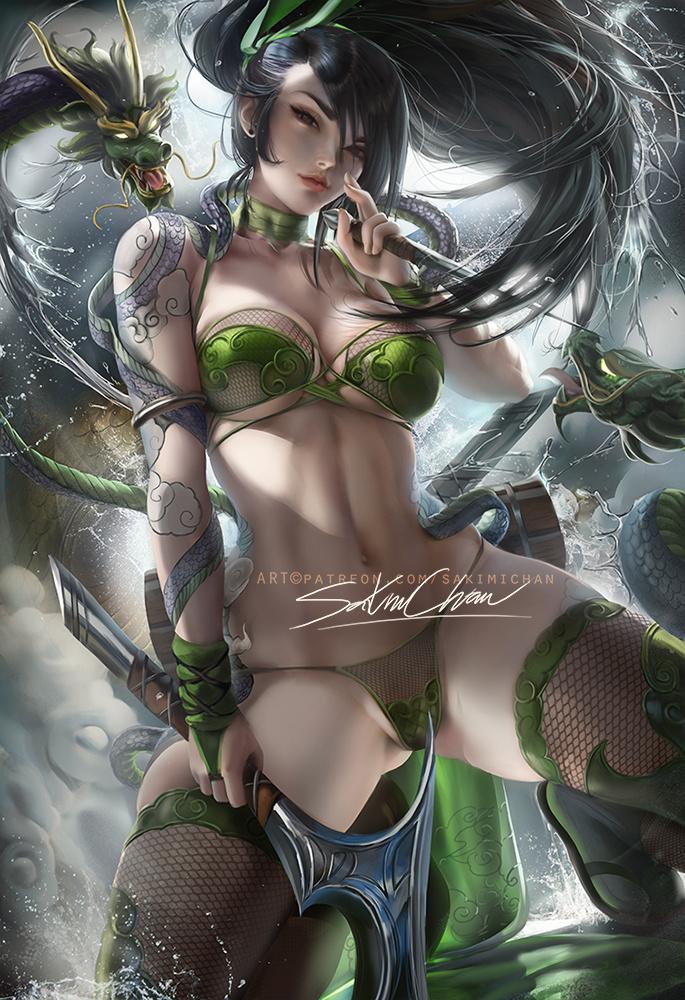Akali ~ League of Legends Rule 34 Fan Art by Sakimi Chan