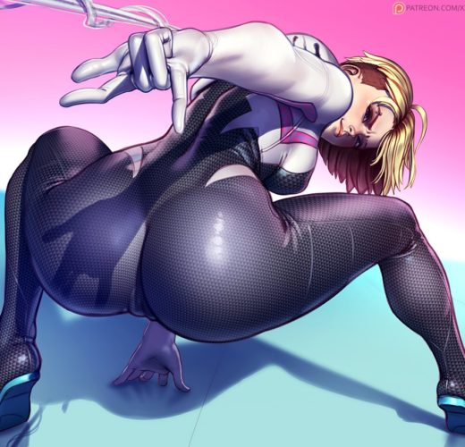 Spider-Gwen Camel Toe ~ Marvel Comics Rule 34 Fan Art by xxNikiChenxx