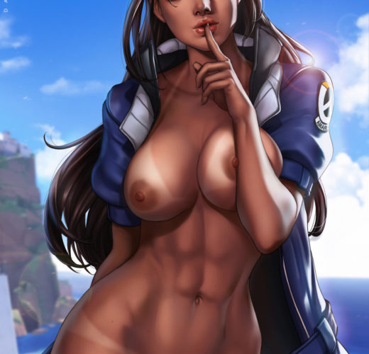 Ana Amari ~ Overwatch Rule 34 Fan Art by Dandon Fuga
