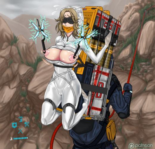 Porting Amelie ~ Death Stranding Rule 34 Fan Art by LateKXXX