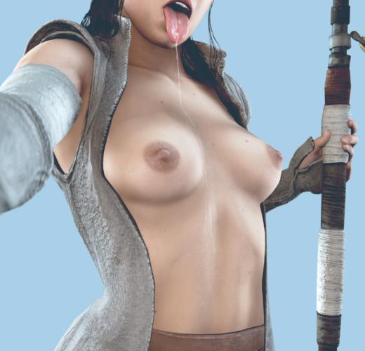 Sloppy Rey ~ Star Wars Rule 34 Fan Art by Batesz