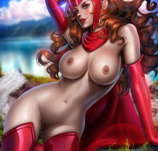 Scarlet Witch ~ Marvel Rule 34 Fan Aert by Ayyasap